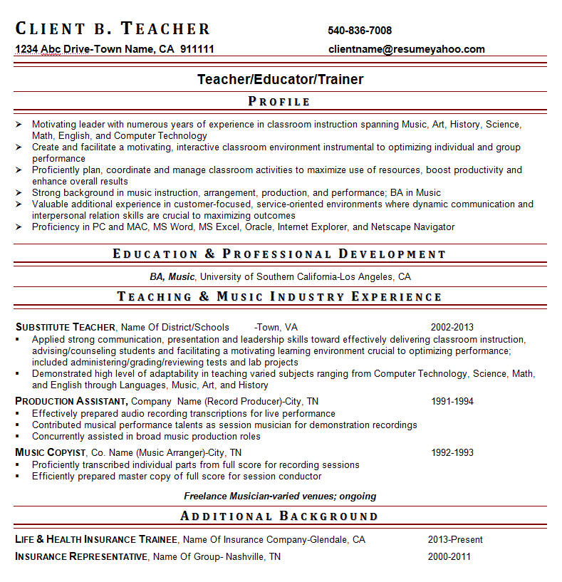 Teacher Resumes Administrator Resumes Resume Writing Guild
